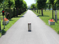 Electrical rising bollards